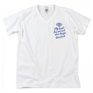9211161171刺繍Vネックシャツ-W-01